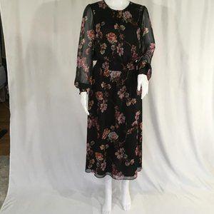 Vince Camuto dress black color flowers prints DM22